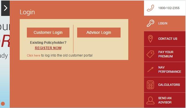 Future Generali life customer login option