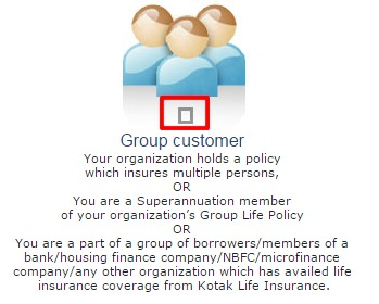 Kotak Group Customer option