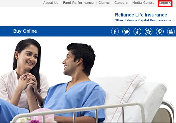 Reliance Life Insurance Login option