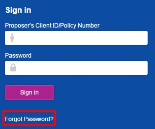 Reliance Life Insurance forgot password