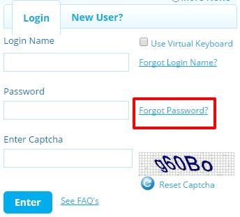 SBI Life Forgot password