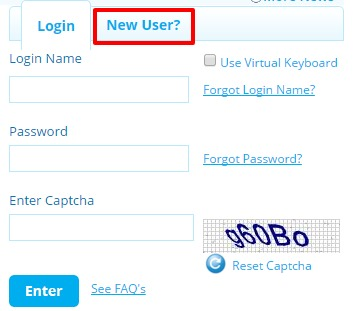 SBI Life new user option