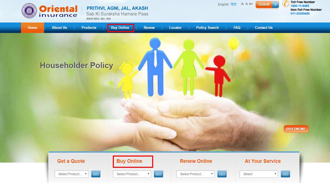 Oriental Insurance Buy Online